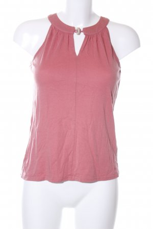Tommy Hilfiger Basic Top pink meliert Casual-Look