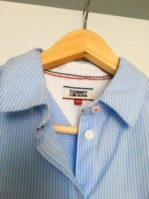 Tommy Hilfiger blau/weißes Blusenhemd