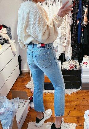 Tommy Hilfiger blaue flared Jeans Neu used Look Logo