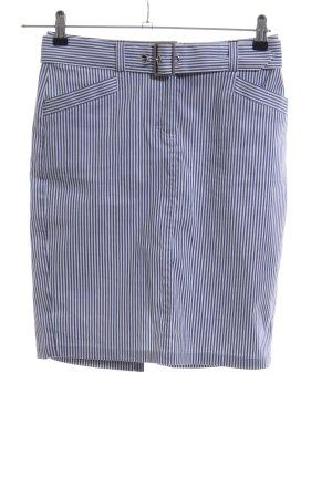 Tommy Hilfiger Bleistiftrock blau-weiß Streifenmuster Business-Look