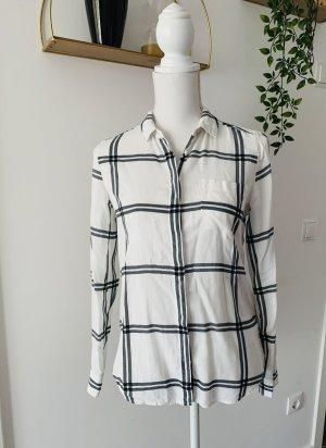 Tommy Hilfiger Geruite blouse wit-zwart