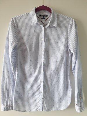Tommy Hilfiger Denim Camicia blusa bianco-azzurro