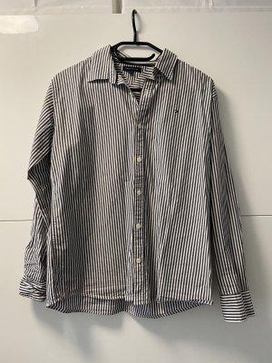 Tommy Hilfiger Empiècement de blouses bleu acier-blanc