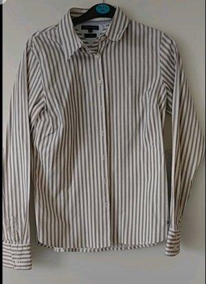Tommy Hilfiger Camicia blusa bianco-marrone chiaro