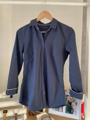 Tommy Hilfiger Bluse Hemd S blau marineblau