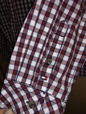Tommy Hilfiger Geruite blouse wit-bordeaux