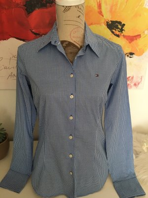 Tommy Hilfiger Geruite blouse wit-donkerblauw