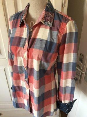 Tommy Hilfiger Geruite blouse zalm-blauw