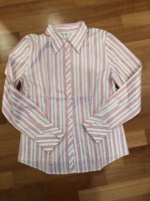 Tommy Hilfiger Bluse, rosa/violett/grün/weiß gestreift, Gr. 10
