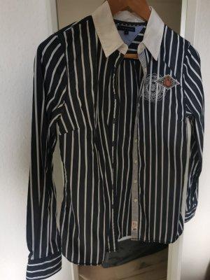 Tommy Hilfiger Blusa de manga larga blanco-azul oscuro