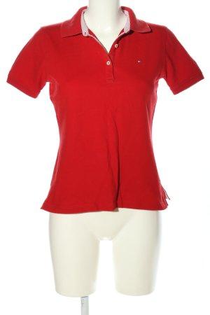Tommy Hilfiger Colletto camicia rosso stile casual