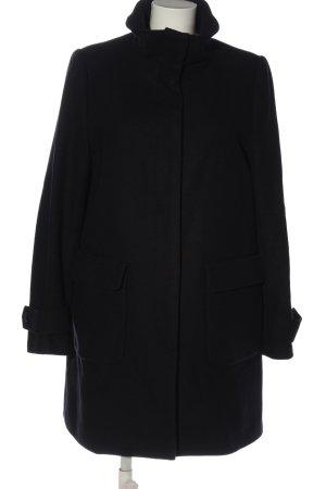 Tommy Hilfiger Długi płaszcz czarny W stylu biznesowym