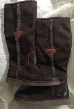 Tommy Hilfiger Futrzane buty czarno-brązowy-brązowy