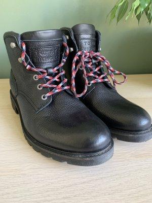 Tommy Hilfiger Bottes à lacets noir cuir