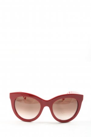 Tommy Hilfiger Butterfly Brille rot-weiß Streifenmuster Casual-Look