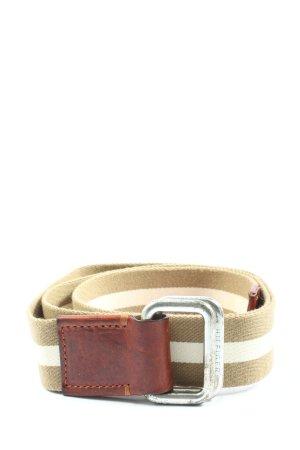 Tommy Hilfiger Pasek materiałowy w kolorze białej wełny-biały Wzór w paski