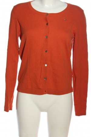 Tommy Hilfiger Cardigan rot Zopfmuster Casual-Look