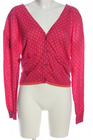 Tommy Hilfiger Cardigan pink-hellorange Punktemuster Casual-Look