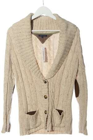 Tommy Hilfiger Cardigan creme Zopfmuster Casual-Look