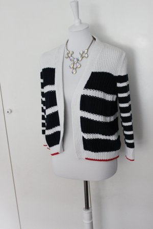 Tommy Hilfiger Cardigan Grobstrick Gr. S weiss Navy