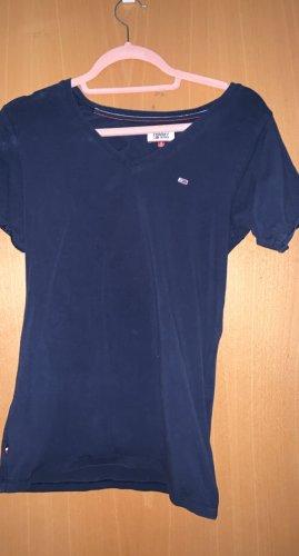 Tommy Hilfiger T-shirt col en V bleu foncé