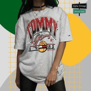 Tommy Hilfiger College-T-Shirt Baseball-Grafik   S - NEU