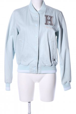 Tommy Hilfiger College jack blauw gedrukte letters casual uitstraling