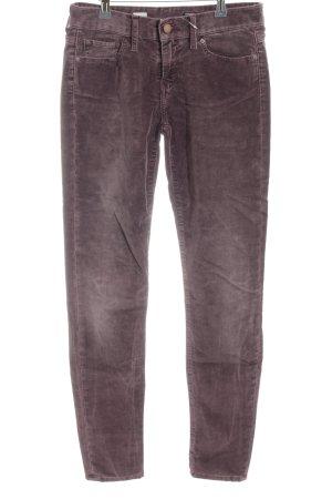 Tommy Hilfiger Pantalon en velours côtelé gris clair style décontracté