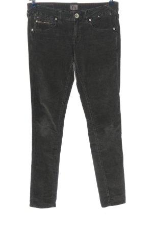 Tommy Hilfiger Pantalone di velluto a coste nero stile casual