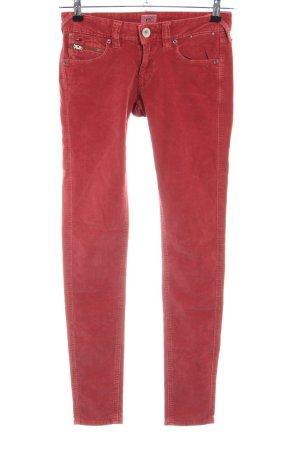Tommy Hilfiger Pantalon en velours côtelé rouge style décontracté
