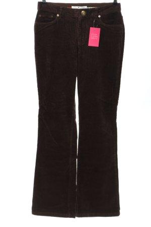 Tommy Hilfiger Pantalone di velluto a coste marrone stile casual