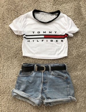 Tommy Hilfiger Camicia cropped bianco