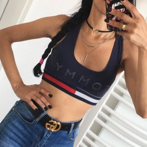 Tommy Hilfiger Top corto blu scuro