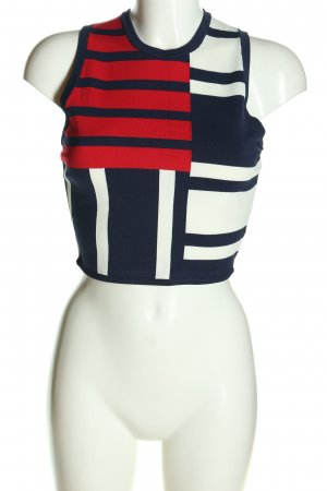 Tommy Hilfiger Cropped Top grafisches Muster Casual-Look