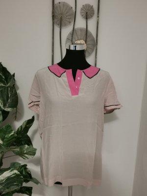 Tommy Hilfiger Damen Blusenshirt Kurzarm Pink Rosa Größe 40 (10)