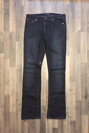 Tommy Hilfiger Damen-Jeans Straight-Leg, dunkelblau, Gr. 29/34, Neu
