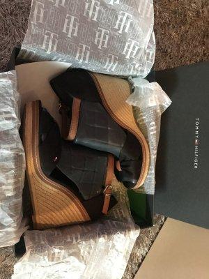 Tommy Hilfiger Platform Sandals black-beige