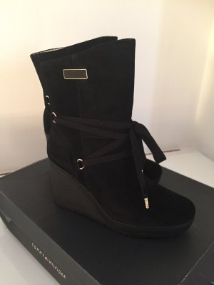 Tommy Hilfiger Damen Leder Boots, Stiefel, Stiefeletten Gr. 39, 179,90€