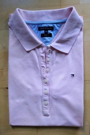 Tommy Hilfiger Top Polo rosa pallido Cotone