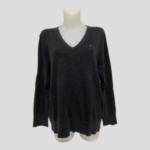 Tommy Hilfiger Damen Pullover XXL Schwarz Pima Cotton Blend