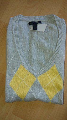 Tommy Hilfiger Fine Knitted Cardigan grey-yellow
