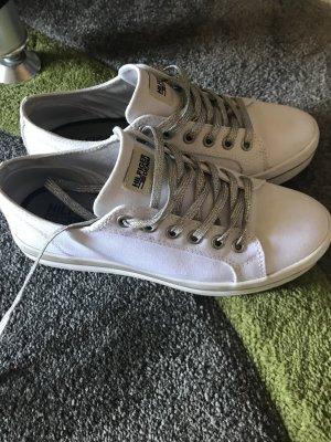 Tommy Hilfiger Sneakresy na obcasie biały
