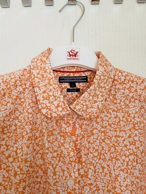 Tommy Hilfiger Kołnierzyk koszulowy pomarańczowy neonowy-biały Bawełna