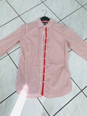 Tommy Hilfiger Blouse Collar white-bright red cotton