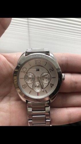 Tommy Hilfiger Horloge met metalen riempje zilver