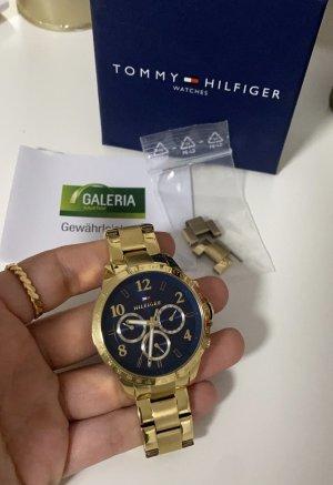 Tommy Hilfiger Orologio con cinturino di metallo oro