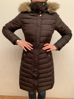 Tommy Hilfiger Abrigo de plumón marrón oscuro