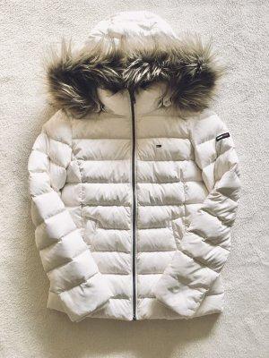 Tommy Hilfiger Daunen Stepp Herbst Winter Jacke creme weiß Gr. S