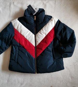 Tommy Hilfiger Daunenjacke S 36 neu blau rot weiß Winterjacke Jacke