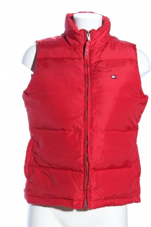 Tommy Hilfiger Daunenweste rot Steppmuster Casual-Look